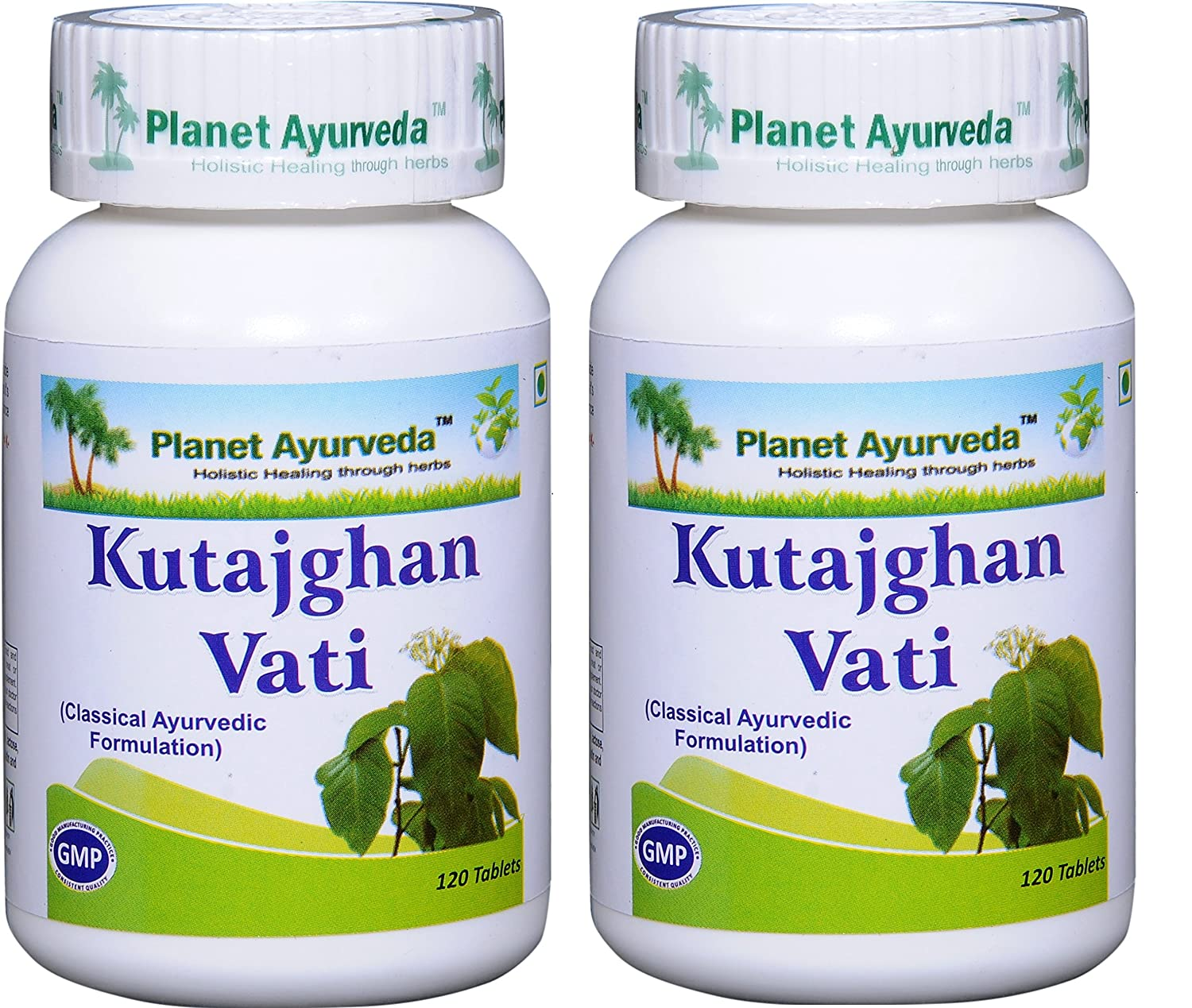 Planet Ayurveda Kutajghan Vati – Herbal Tablets, 100 Natural – 2 Bottles Each Bottle contains 120 tablets