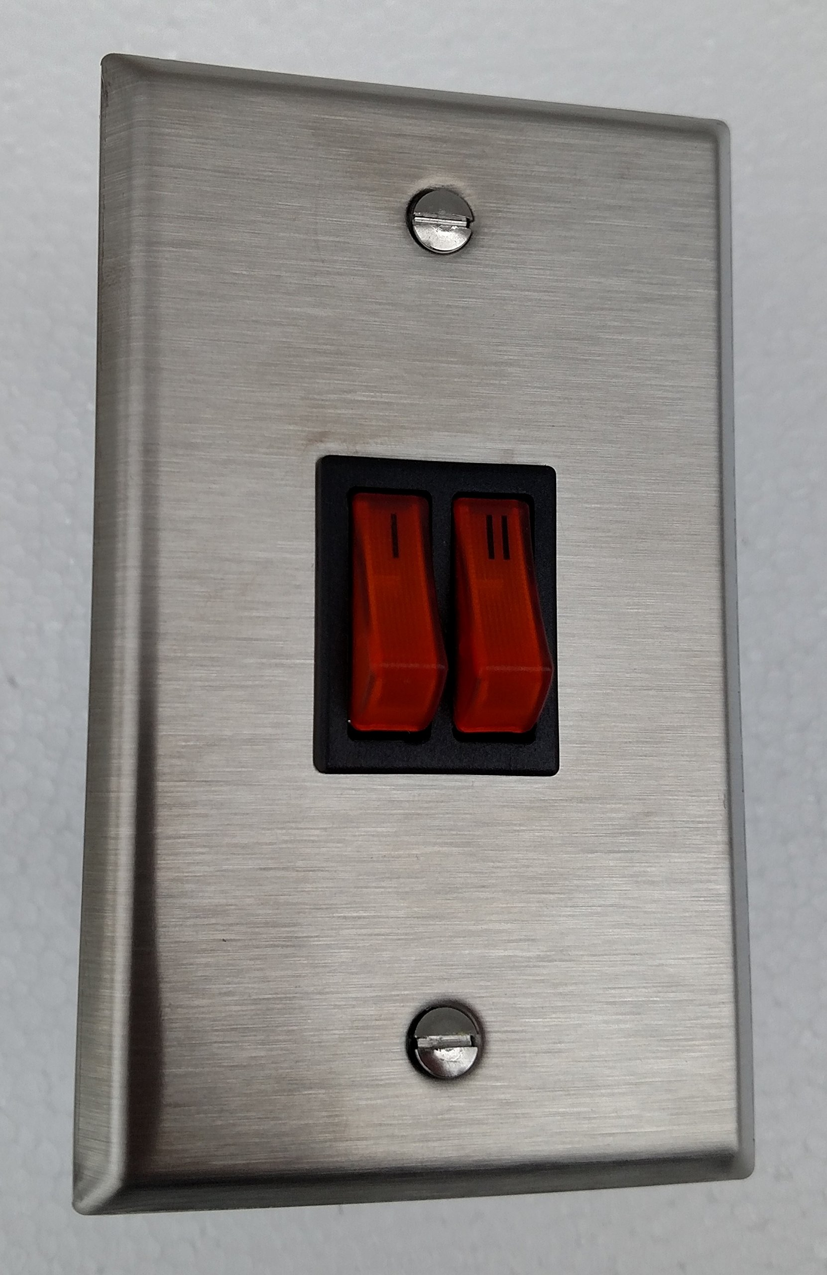 Schwank JM-0201-TS Illuminated Single Gang Switch for 2-Stage Heaters