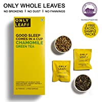 Onlyleaf Chamomile Green Tea, 25 Tea Bags with 2 Free Exotic Samples