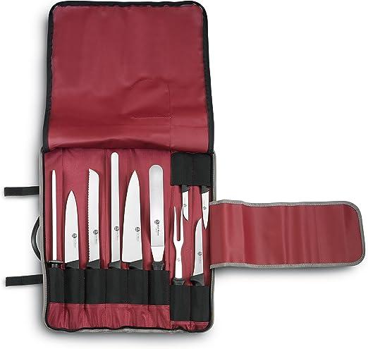 Compra AUSONIA - 96254 Juego DE Estuche DE Tejido Reforzado Profesional DE Cocinero con 10 Cuchillos en Amazon.es