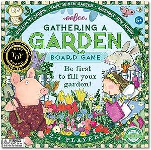 eeBoo Gathering a Garden Foil Board Game for Kids, Multi (BDGAR3)
