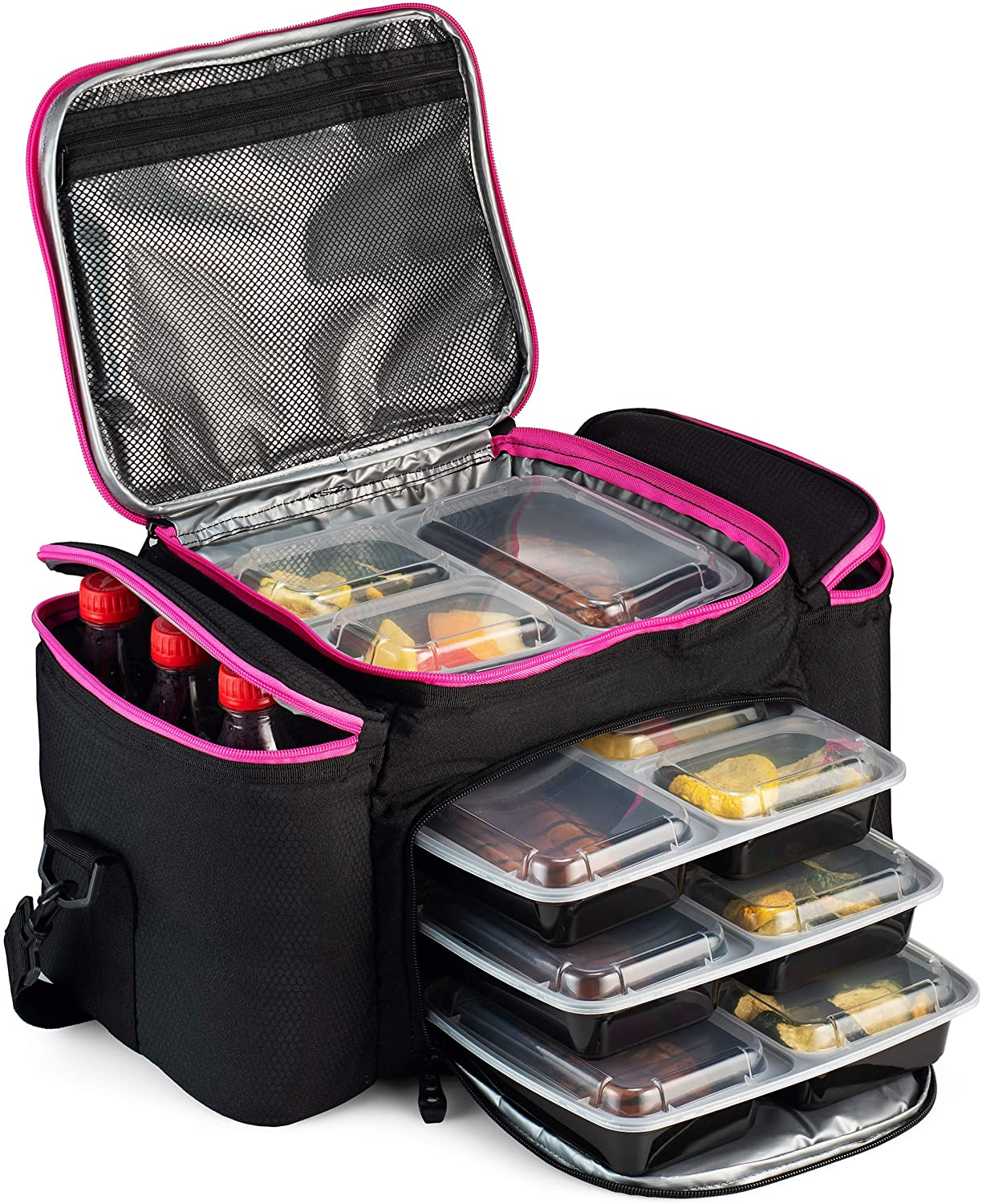Cooler Bag Insulated By Outdoorwares Large Capacity Durable, To Keep Foods And Drinks In The Right Temperature - Good For Travel, Picnic, Beach Hiking, Camping ETC.(Containers Not Included)