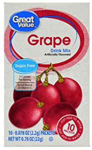 Great Value: Grape Drink Mix, .78 Oz (Pack of 6)