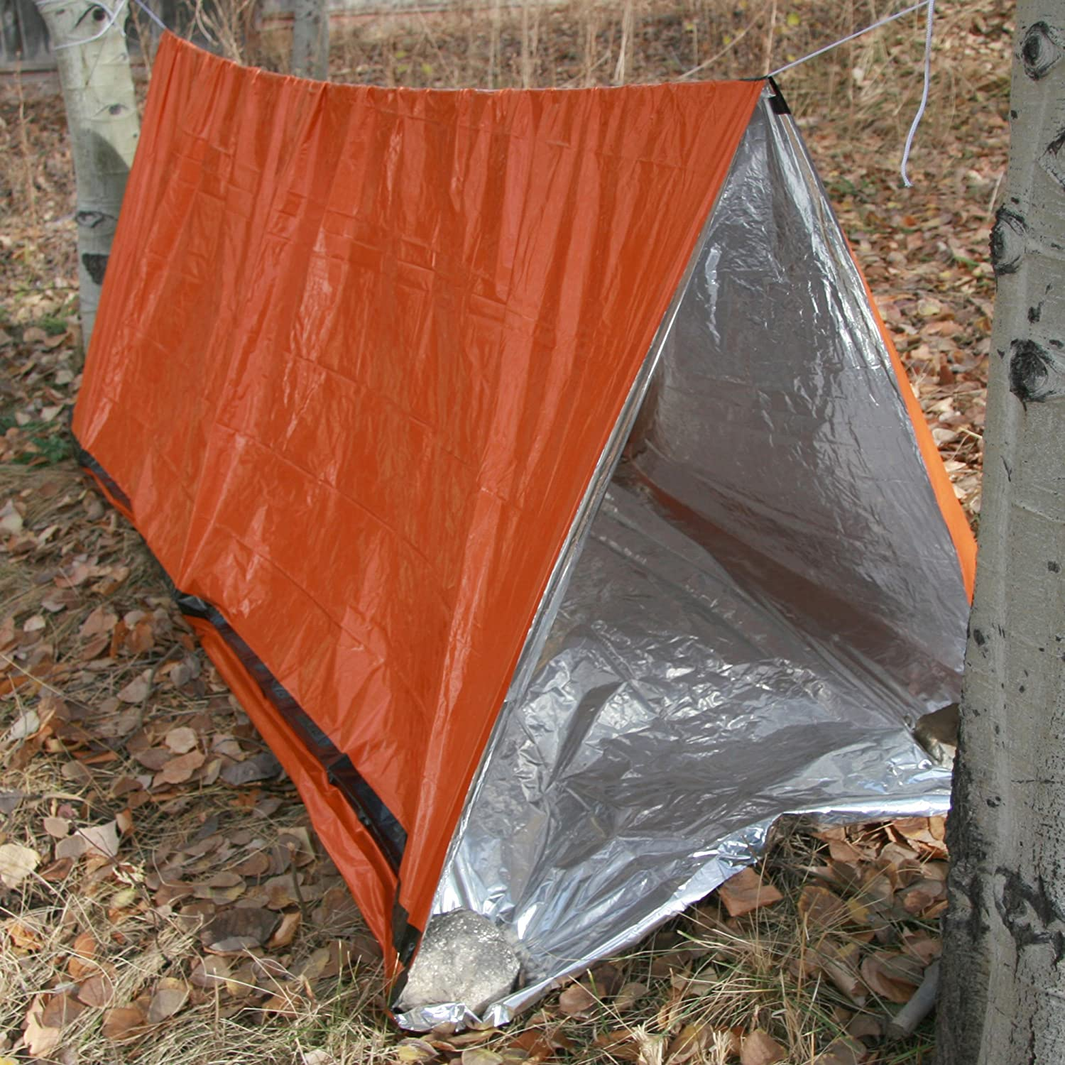 Amazon.com  ThermaSave Reflective Tube Tent 2 Person Reversible Cold/Hot Weather Emergency Shelter by Emergency Zone  Survival Tube Tent  Sports u0026 ... & Amazon.com : ThermaSave Reflective Tube Tent 2 Person Reversible ...