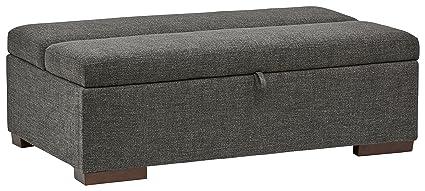 Amazoncom Rivet Fold Modern Ottoman Sofa Bed 48 W Dark Grey