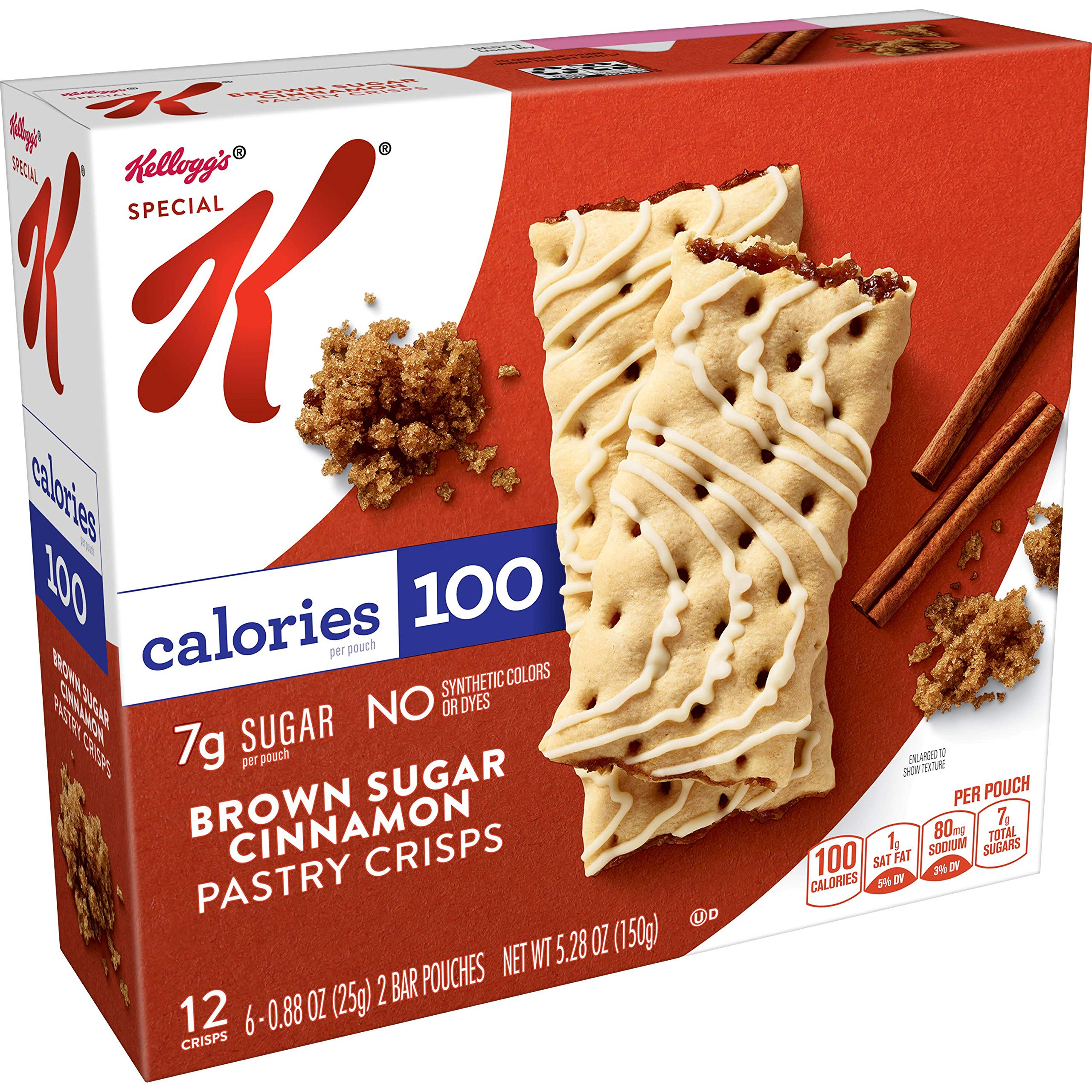 Special K Pastry Crisps, Brown Sugar Cinnamon, 5.28 oz, 12 Crisps, 2 per Pouch (6 Pouches)