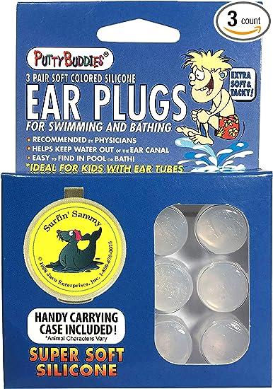 UK Silicone Waterproof Swim EarPlug Regular Swimmers Adult Kids Children boy