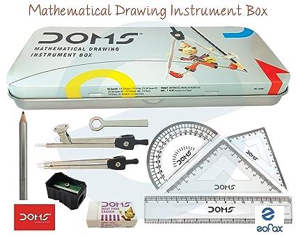Amazon Com Doms Geometry Mathematical Drawing Instrument Box