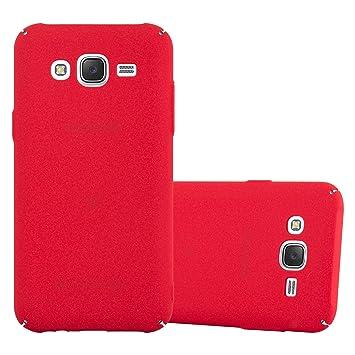 Cadorabo Funda para Samsung Galaxy J5 2015 en Frosty Rojo – Cubierta Protección de Plástico Duro Super Delgada e Inflexible con Antichoque – Case ...