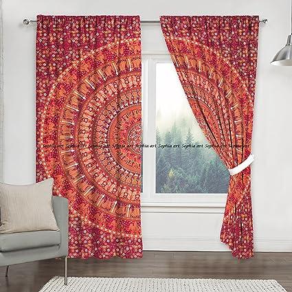 Window Treatments & Hardware Curtains, Drapes & Valances Indian Mandala Window Curtains Cotton Drape Balcony Room Decor Curtain High Standard In Quality And Hygiene