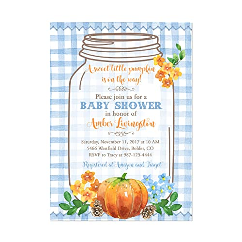 Amazon Com Little Pumpkin Fall Mason Jar Baby Boy Shower