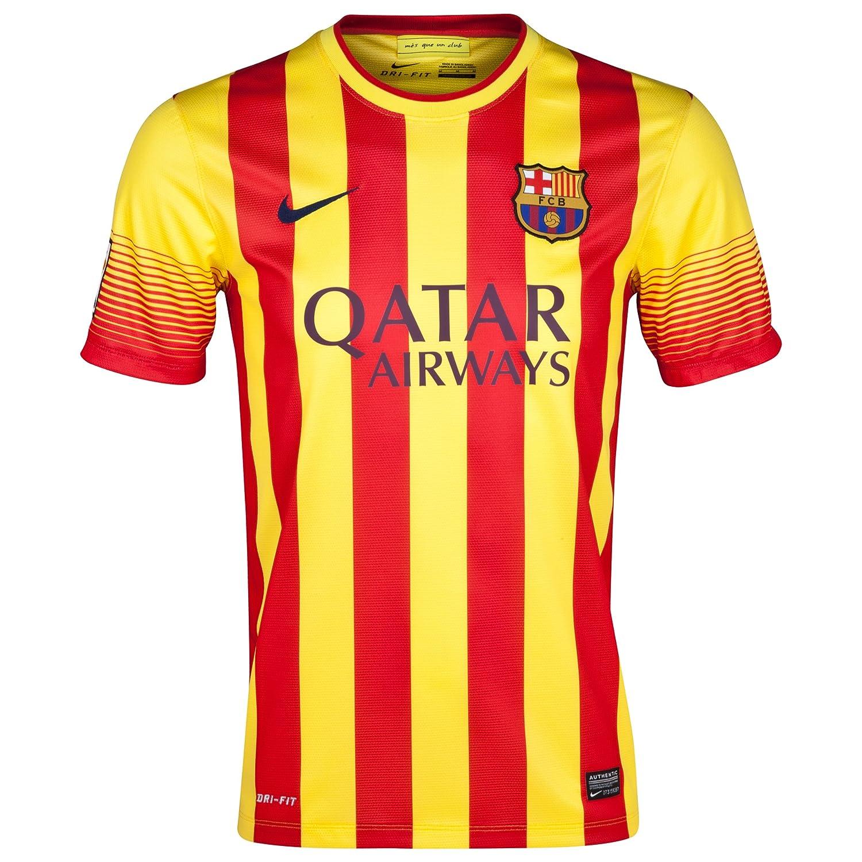 sports shoes 1a2ca 0bf48 Amazon.com : Nike Barcelona 2013_14 Away Jersey Neymar Jr ...