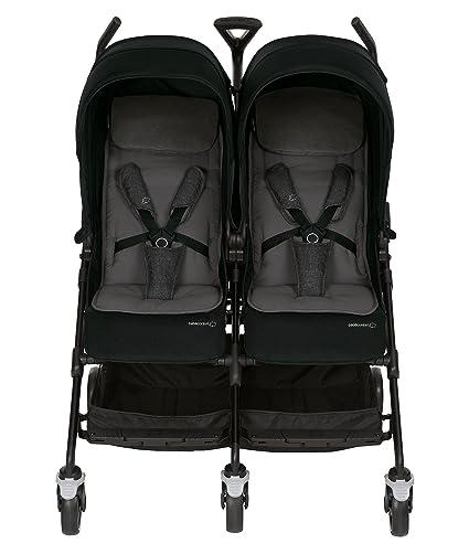 Bébé Confort Dana For2 - Silla de paseo gemelar, color nomad black: Amazon.es: Bebé