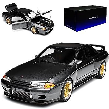 Nissan Skyline R34 GT-R Grau Clubman Race Spec 1998-2002 Nr 232 1//18 Otto Modell Auto mit individiuellem Wunschkennzeichen