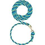 Weaver Leather Livestock Livestock Adjustable Poly Neck Rope Lime Zest//Blue//Gray 1//2 x 1