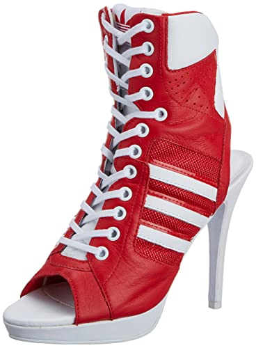 e6ec29b05be7 adidas Originals Jeremy Scott High Heel Shoes Red Size  4 UK  Amazon ...