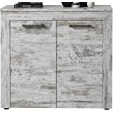 Trendteam 1276-878-68 River Commode Armoire Buffet Pin Style Shabby Chic Rétro Blanc LxHxP 95 x 89 x 41 cm