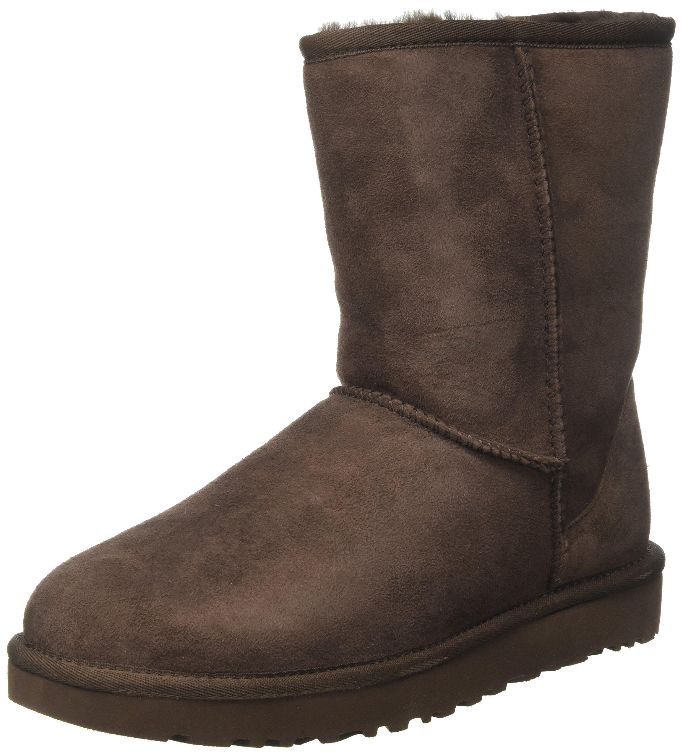 UGG Women's Classic Short II Winter Boot, Chocolate, 5 M US