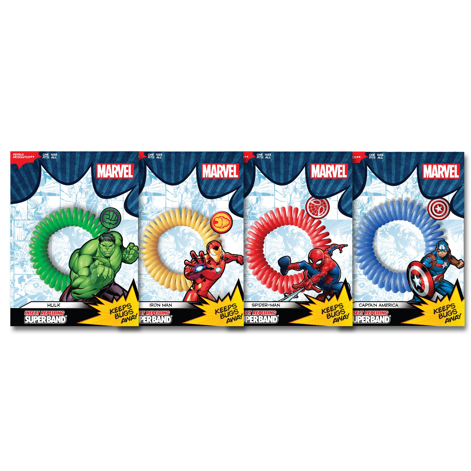 Superband MARVEL AVENGER Insect Repelling Wristbands with AWESOME Superhero Charms! (12-Pack)