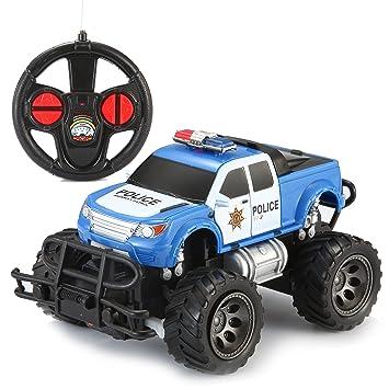 Amazon Com Joyin Toy Rc Remote Control Police Car Monster Truck