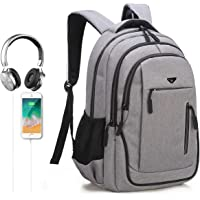 Mochila Para Portátiles laptop ,Mochila de Negocios , Mochila Escolar , bolsas de Viaje - 15.6 Pulgadas , 35L -Toma de Auriculares Con Enchufe de Carga USB y Resistente al Agua y a Prueba de lluvia