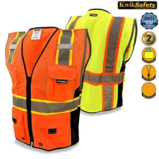 KwikSafety Class 2 Executive Safari Orange Hi Vis Vest