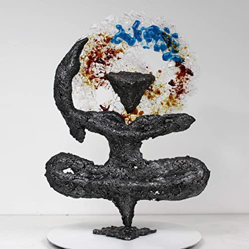 Pavarti violeta caligrafía II - escultura de metal Buil ...