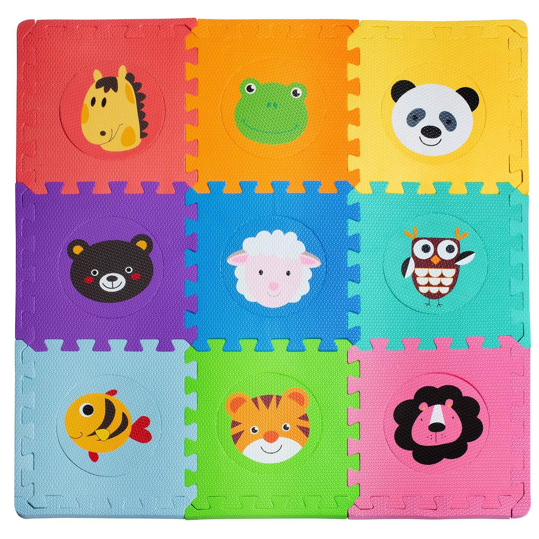Foam Floor Mats for Kids - Baby Floor Mat Foam - Animal Puzzle Mat - Soft, Reusable, Easy to Clean, Non-Toxic by Dooboe
