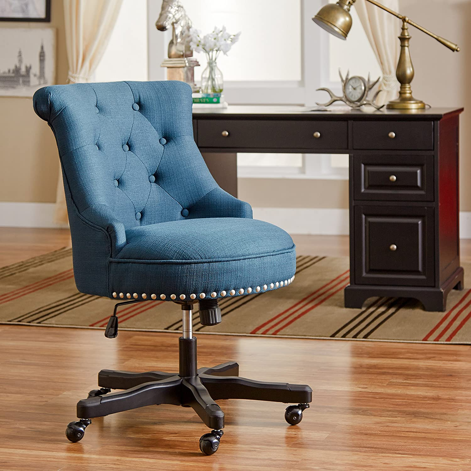 Amazon Eckard Desk Chair Blue fice Products