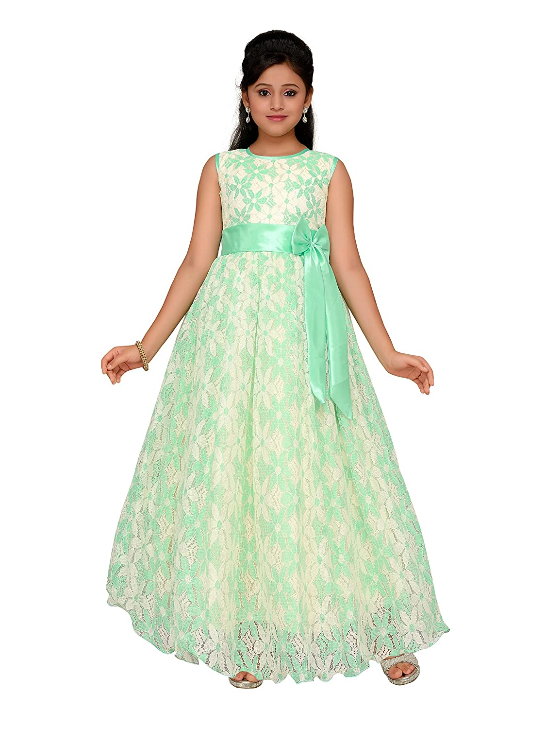 Adiva Girls Indian Party Wear Gown Dress for Kids: Amazon.co.uk: Clothing