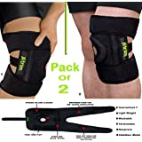 DURAFIT SPRING KNEE BRACE - (Pack of 2) NEOPRENE Knee Support for MEN & WOMEN - Open Patella with Adjustable stretchy hook and loop closure - Anatomically tailored Pads Surrounds the Knee cap -with Adjustable Strapping - Lightweight - Breathable - Non-Slip -Soft - Strong - Washable - Comfort Fit Knee Brace - Best For Arthritis, Sports, Exercise and Running - Men & Women Braces - Maximum support & more Natural movement