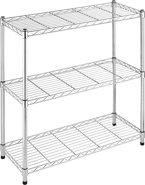 Whitmor Deluxe Rack Collection Supreme Small 3-Tier Shelving In Chrome