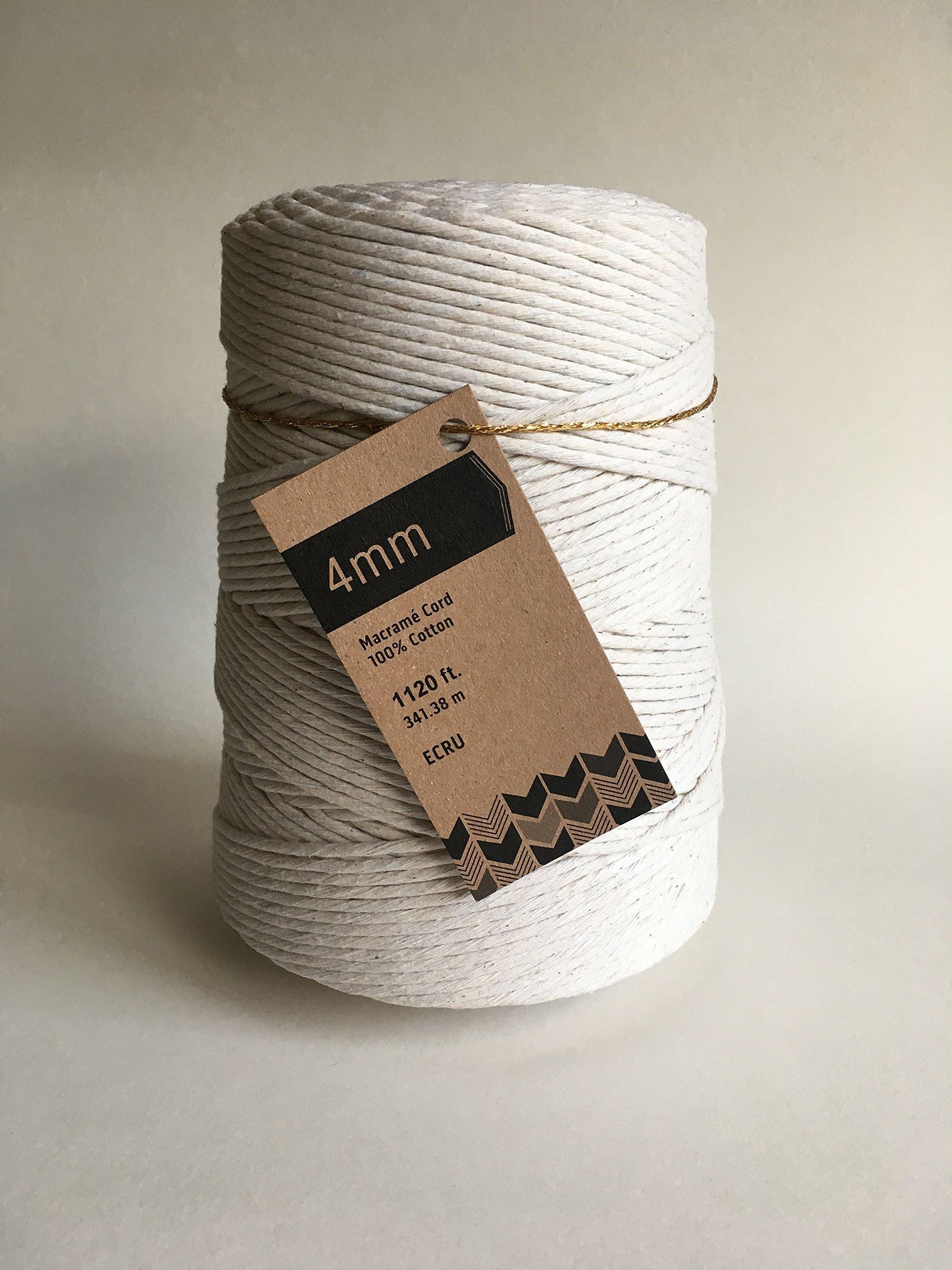 4mm Cotton Macrame Cord/Bulk Knotting Rope