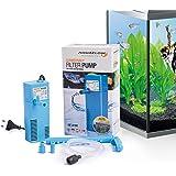 Aquaflow Technology® AIF-411M - Bomba de filtro para acuario sumergible para agua dulce y salada. Para tanques de acuario de hasta 50 litros. 300L/H 2W