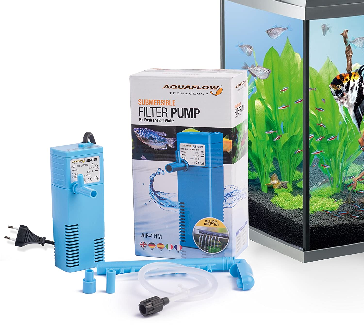 Aquaflow Technology® AIF-311M Internal Aquarium Fish Tank Submersible Filter