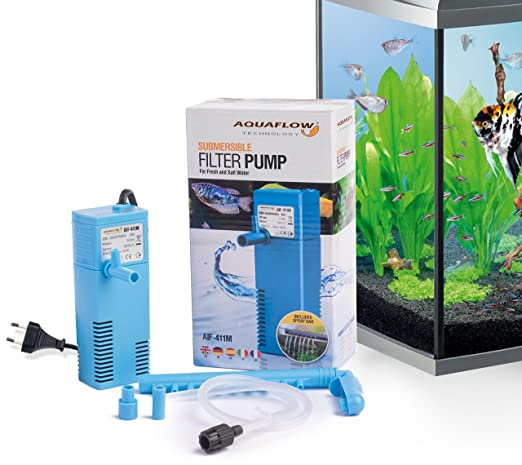 Aquaflow Technology® AIF-411M Internal Aquarium Fish Tank Submersible Filter: Amazon.es: Jardín
