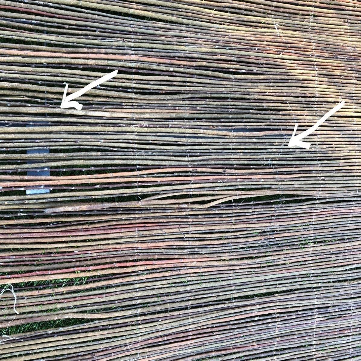 Balkon und Terrasse B-Ware Weidenmatte /• 180cm hoch /• 300cm lang /• Sichtschutzmatte in 18 Gr/ö/ßen /· Weidenzaun f/ür Garten