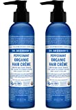 Dr. Bronner's Organic Hair Creme - Peppermint. 6 oz(2 Pack)