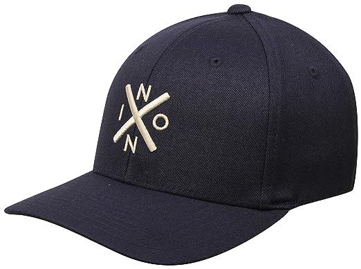 b54a4749861da Amazon.com  NIXON Exchange Flexfit Hat - All Navy Cream - L XL  Clothing