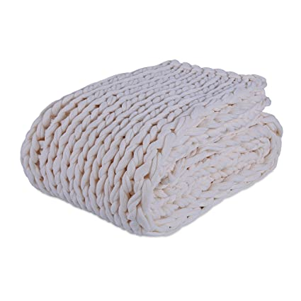 34cc87bd27 Amazon.com  Berkshire Blanket Chunky Double Blanket Knit Throw ...