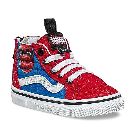f627d001376 Vans SK8-Hi Zip (Marvel) Spider-Man True White VN0A32R3U4I Todder Size 6   Amazon.in  Baby