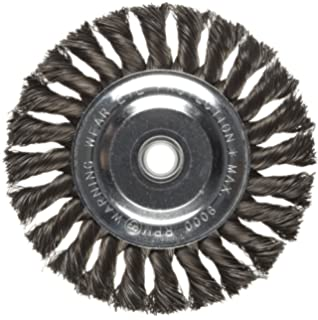 Weiler Dualife Standard Wire Wheel Brush Steel 0.014 Wire Diameter Partial Twist Knotted 5//8 Arbor Round Hole 5//8 Brush Face Width 8 Diameter 6000 rpm 8 Diameter 0.014 Wire Diameter 5//8 Arbor 1-5//8 Bristle Length 08135 1-5//8 Bristle Length