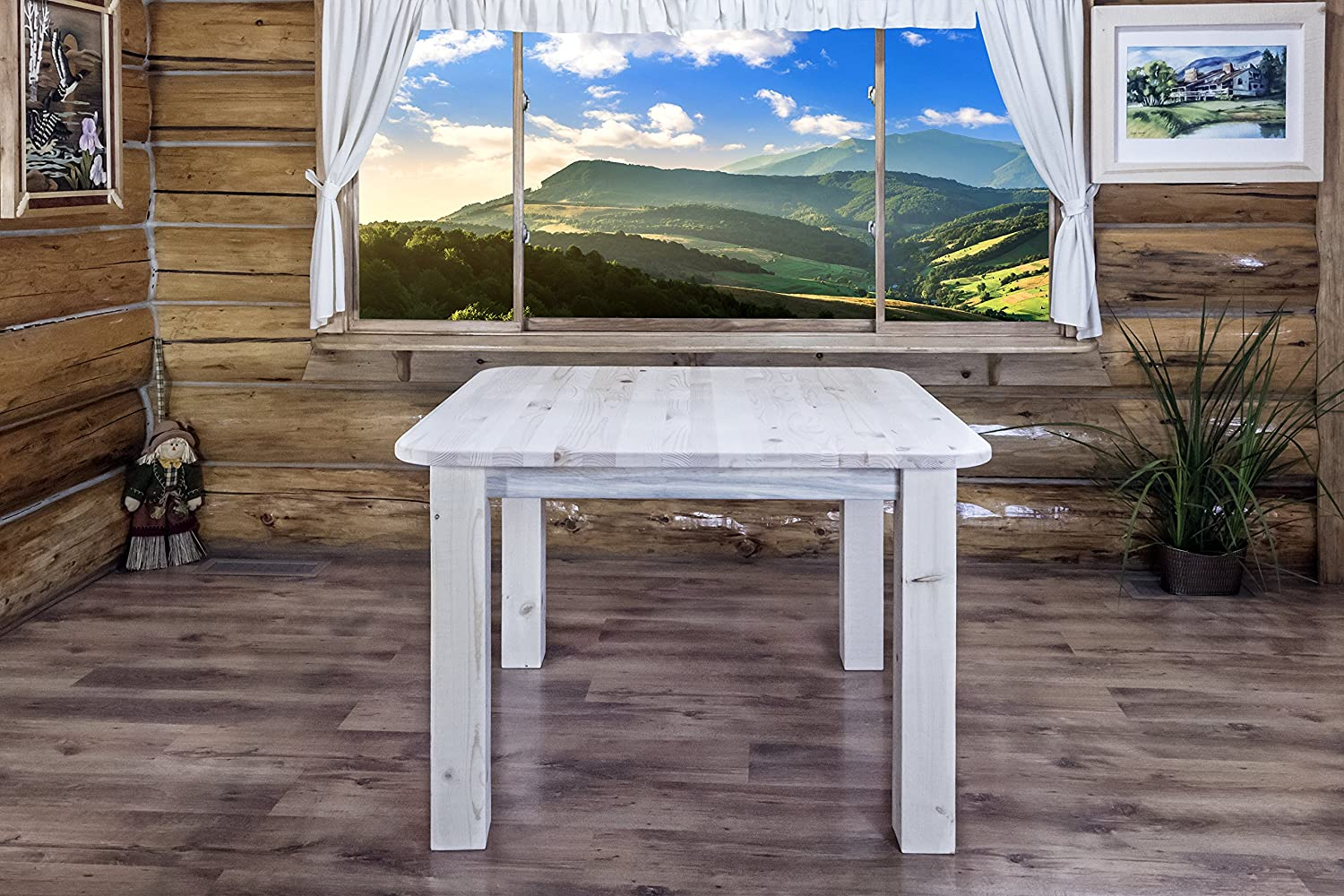 Montana Woodworks Homestead Collection 4-Post Dining Table, Ready to Finish