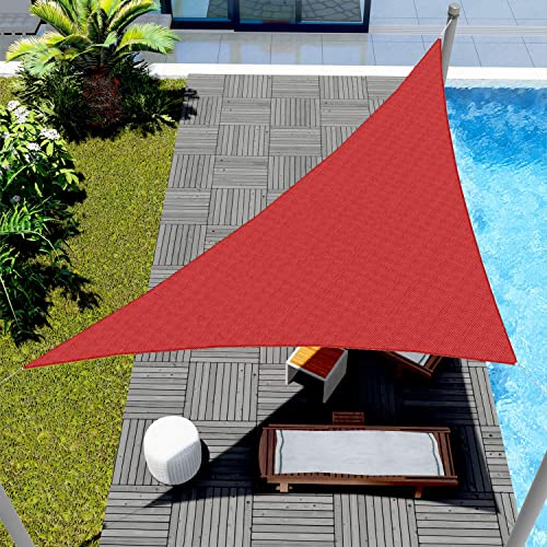 Windscreen4less 13' x 13' x 18.4' Sun Shade Sail Triangle Canopy
