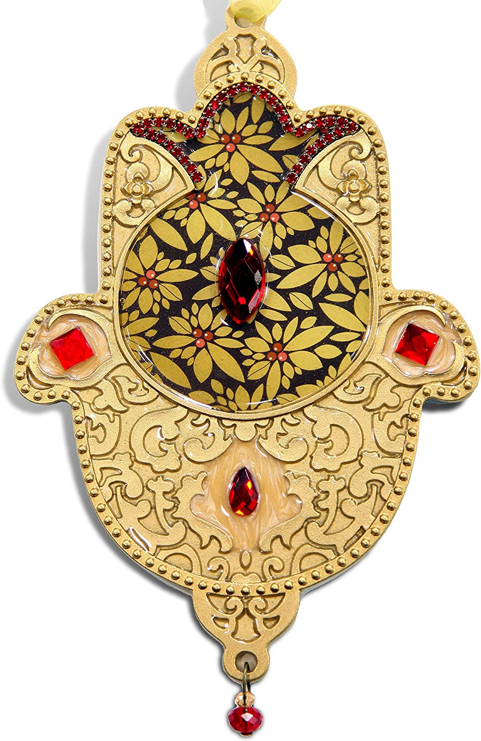 Hamsa wall decor, Wall Hanging Art, Handcrafted in Unique Design, Home Jewelry, Bohemian Style, Judaica Gift, Hand of Miriam, Hand of Fatima, For Home Blessing And Great Fortune, Wall Hamsa Gold Color