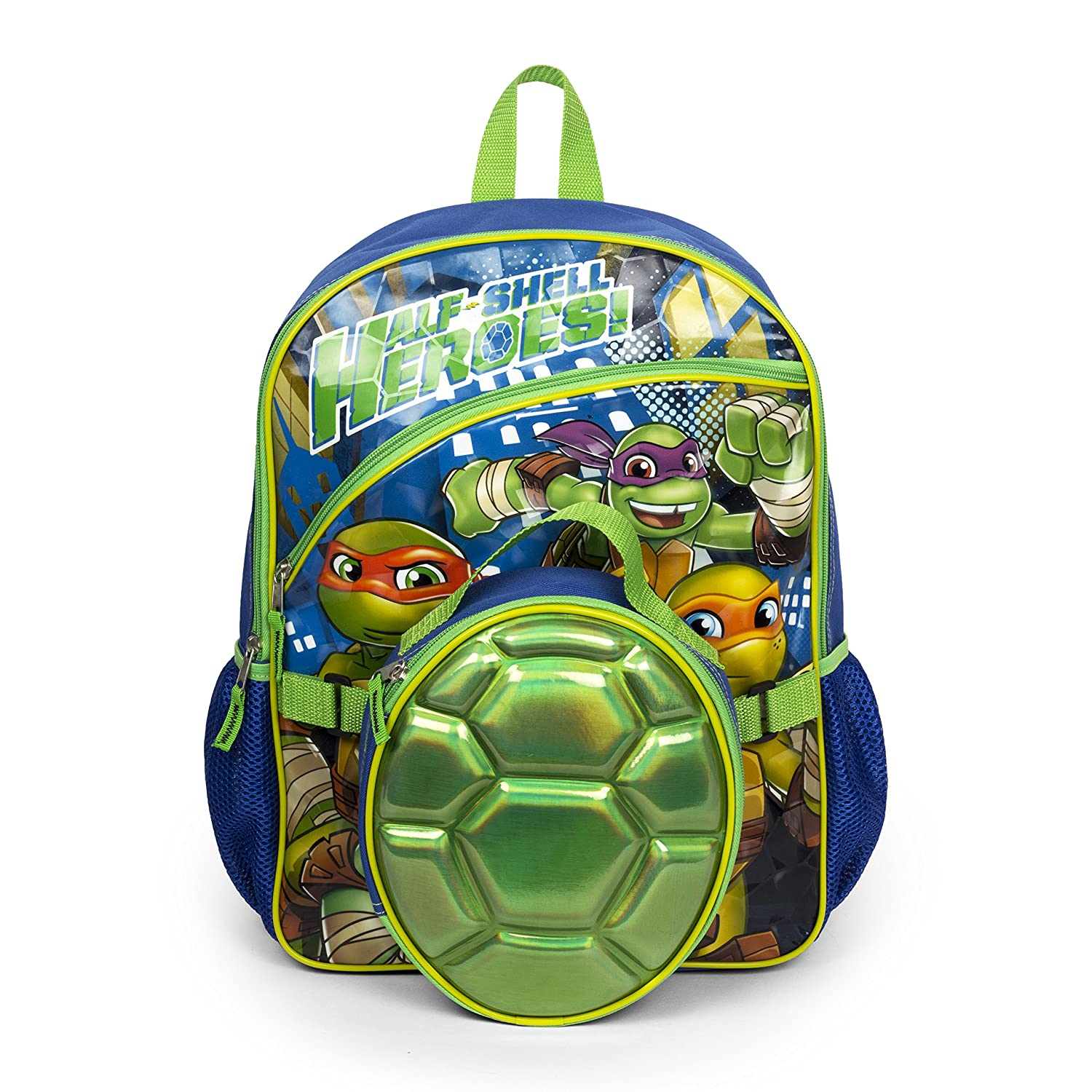 Nickelodeon Teenage Mutant Ninja Turtles Backpack with Insulated Shell Lunch Kit