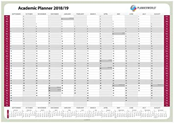 plannerworld high quality a1 laminated student academic year wall student calendar planner 2018 to 2019