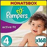 Pampers Active Fit Windeln, Monatspackung, Größe 4 (Maxi), 8-16 kg, (1 x 168 Windeln)