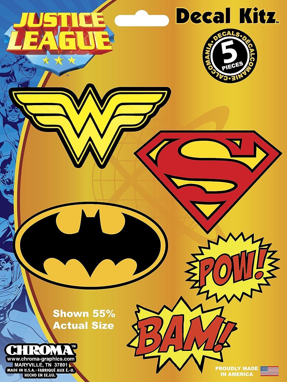 CHROMA 45018 Justice League Logos 5pc Decal Kit
