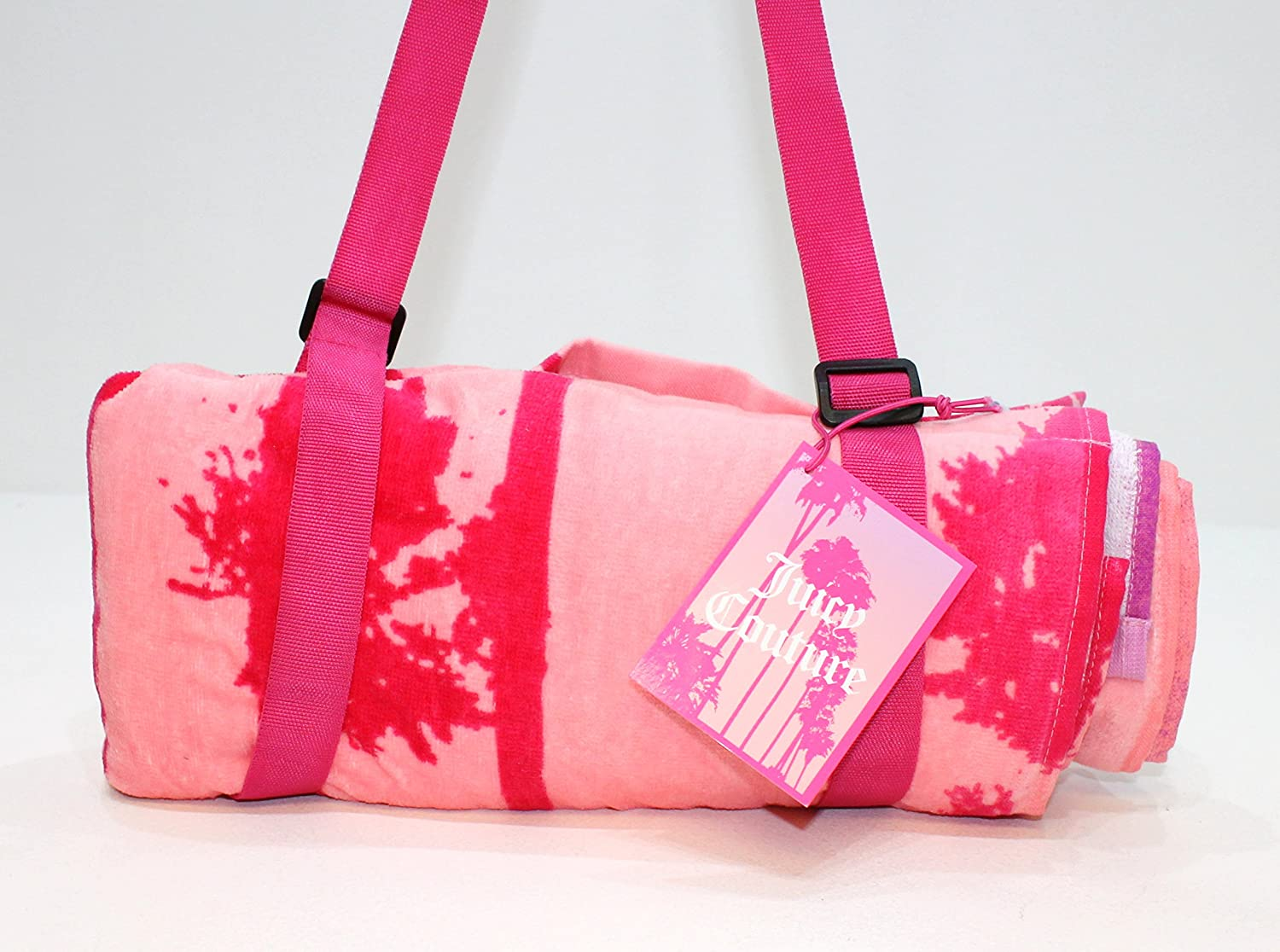 JUICY COUTURE MALIBU COLLECTION LADIES PINK BEACH GYM TOWEL WITH CARRY HANDLE Amazoncouk Beauty